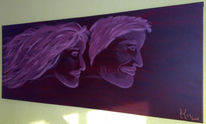 Jugend, Malerei, Surreal, Frau
