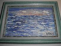 Malerei, Landschaft, Meer, Welle