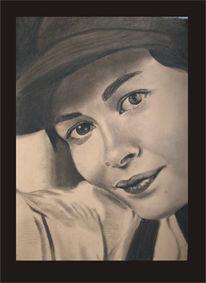 Portrait, Taoutou, Zeichnung, Ruschig