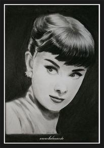 Ruschig, Zeichnung, Audrey hepburn, Helisartpage