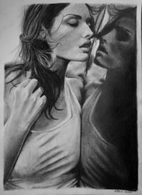 Portrait, Verlangen, Ruschig, Zeichnung