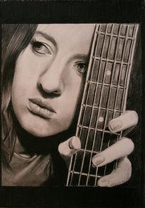 Ruschig, Portrait, Mädchen, Gitarre