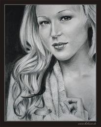 Zeichnung, Ruschig, Juwel, Portrait