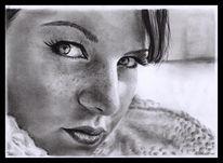 Zeichnung, Josephine, Ruschig, Portrait