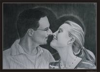 Ruschig, Tanzpaar, Zeichnung, Kraft