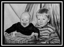 Zeichnung, Ruschig, Portrait, Bruder