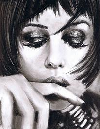 Portrait, Monika, Bellucci, Zeichnung