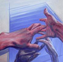 Blau, Räumlichkeit, Acrylmalerei, Figural