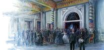 Historische, Wiesbaden, Feier, Illustration