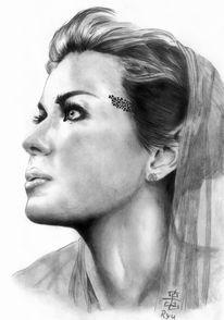 Portrait, Zeichnung, Zeichnungen, Prinzessin