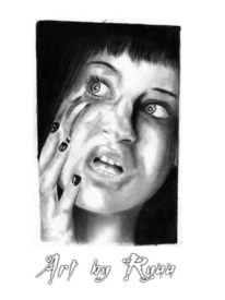 Panik, Portrait, Zeichnung, Zeichnungen