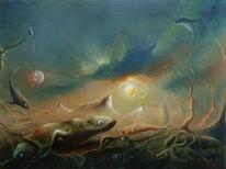 Malerei, Kleine tiere, Wüste,