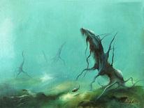 Fischkönig, Wasser, Fische, Blau