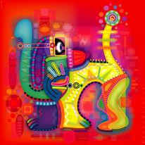 Farben, Bunt, Grafik, Ornamente