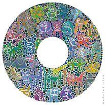 Farben, Tiere, Mikrowelt, Kreaturen