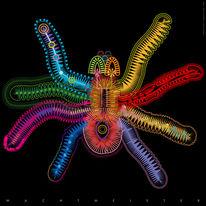 Figur, Neon, Nacht, Formen