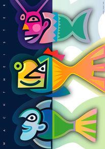 Fantasie, Flosse, Fische, Grafik