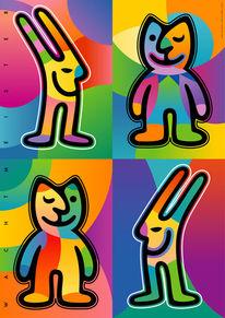 Kinder, Hase, Wechselspiel, Farben