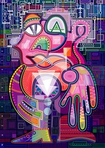 Struktur, Kunstdruck, Creatur, Menschlichkeit