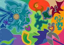 Farben, Abstrakt, Formen, Traumsturm
