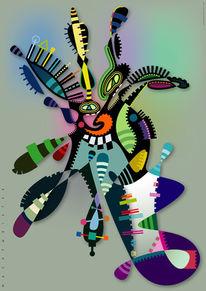 Wesen, Kreatur, Grafik, Farben