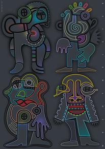 Formen, Menschen, Symbolik, Astronaut