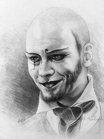 Portrait, Bleistiftzeichnung, Copella, Graphit mensch