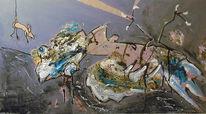 Greifvogel, Absturz, Maus, Malerei