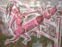 Pferde, Malerei, Figural, Befehl