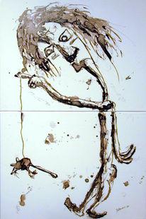 Malerei, Figural, Tod, Maus