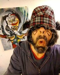 Ausstellung, Selfie, Malerei