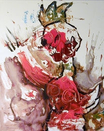 Malerei, Figural, Huhn