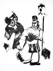 Japan, Samurai, Tuschmalerei, Asien