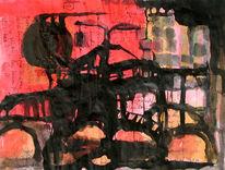Fluss, Rot schwarz, Brücke, Stadt