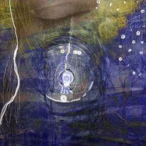 Schlüssel, In inneren traumorten, Für wortlichter finden, Digitale kunst