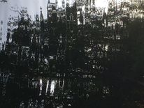 Wasserzeichnung, Schloss, Schwarz, Ausschnitt