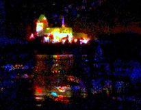 Dunkel, Leuchten, Spiegelung, Ratzeburger dom