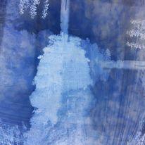 Formen, Blautöne, Verlauf, Digitale kunst