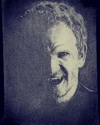 Menschen, Zeichnung, Mann, Vampir