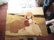 Naturholz, Intarsienbilder, Inka, Holz