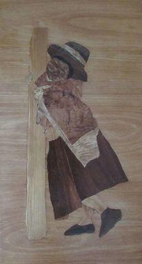 Ausstellung, Peruanisches mädchen, Inka, Intarsienbilder
