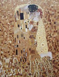 Holz, Marketerie, Klimt stöger, Intarsienbilder