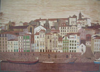 Marketerie, Holz, Kunsthandwerk, Porto