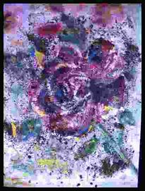 Zart, Malerei, Rose, Pflanzen
