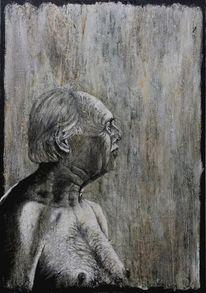 Mann, Kraft, Portrait, Malerei