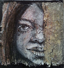 Nupelda, Frau, Berührung, Portrait
