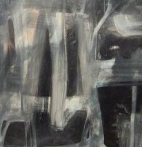 Schwarz, Abstrakte kunst, Abstrakte malerei, Weiß