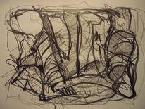 Abstrakt, Abstrakte kunst, Abstrakte zeichnung, Skizze