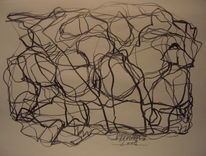 Abstrakte kunst, Abstrakte zeichnung, Skizze, Zeichnung