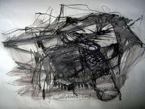 Abstrakt, Abstrakte zeichnung, Abstrakte kunst, Zeichnung